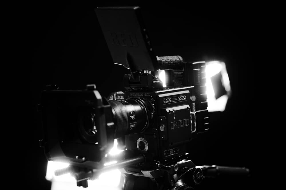 black and white video production camera image
